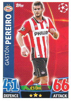 Gaston Pereiro PSV Eindhoven 2015/16 Topps Match Attax CL #158