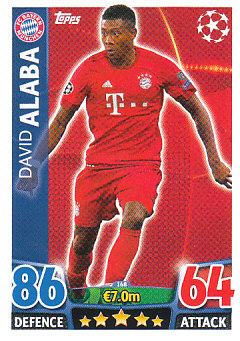 David Alaba Bayern Munchen 2015/16 Topps Match Attax CL #168