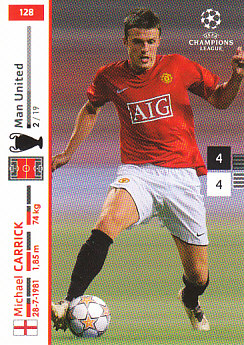 Michael Carrick Manchester United 2007/08 Panini Champions League #128