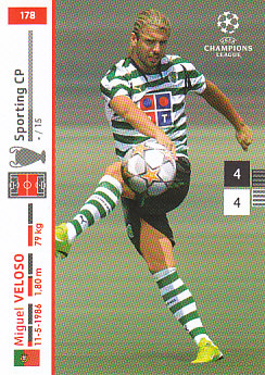 Miguel Veloso Sporting CP 2007/08 Panini Champions League #178