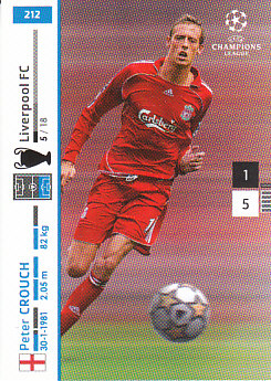 Peter Crouch Liverpool 2007/08 Panini Champions League #212