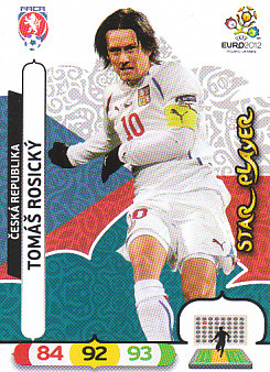 Tomas Rosicky Czech Republic Panini UEFA EURO 2012 Star Player #8