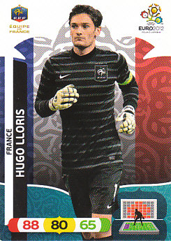 Hugo Lloris France Panini UEFA EURO 2012 #76