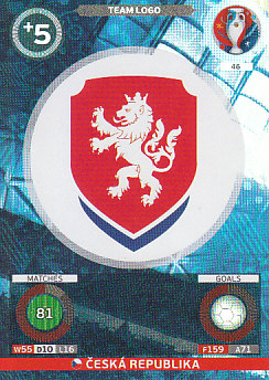 Team Logo Czech Republic Panini UEFA EURO 2016 #46