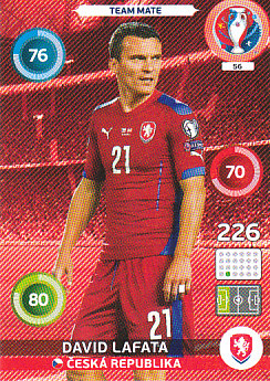 David Lafata Czech Republic Panini UEFA EURO 2016 #56