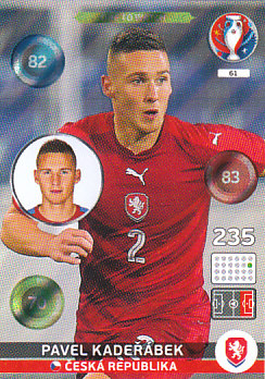 Pavel Kaderabek Czech Republic Panini UEFA EURO 2016 One to Watch #61