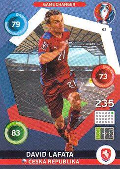 David Lafata Czech Republic Panini UEFA EURO 2016 Game Changer #62