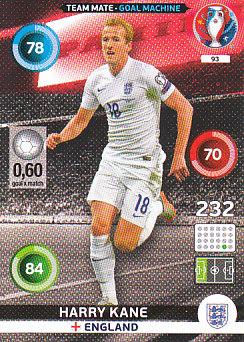 Harry Kane England Panini UEFA EURO 2016 Goal Machine#93