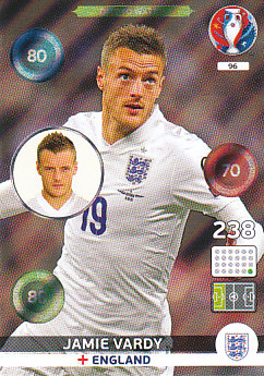 Jamie Vardy England Panini UEFA EURO 2016 One to Watch #96