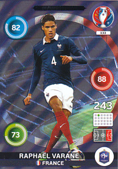 Raphael Varane France Panini UEFA EURO 2016 Defensive Rock #133