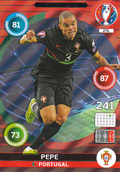 Pepe Portugal Panini UEFA EURO 2016 Defensive Rock #275