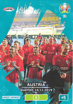 Austria Qualified Austria Panini UEFA EURO 2020 CORE - Magic Moment #013