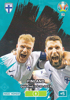 Finland Qualified Finland Panini UEFA EURO 2020 CORE - Magic Moment #014