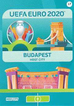 Budapest Hungary Panini UEFA EURO 2020 CORE - Host City #017