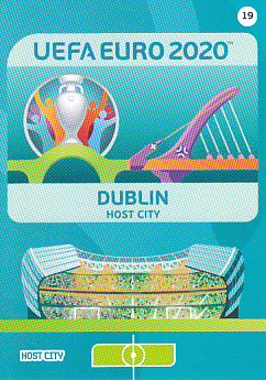 Dublin Republic of Ireland Panini UEFA EURO 2020 CORE - Host City #019