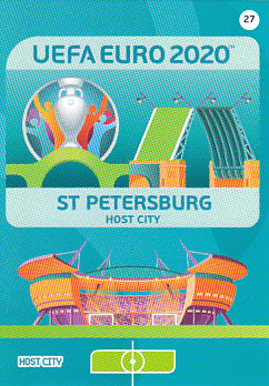 Saint Petersburg Russia Panini UEFA EURO 2020 CORE - Host City #027