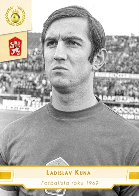 Ladislav Kuna Czech Republic Fan karty Fotbalista roku 1969 #FR05