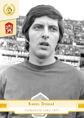 Karol Dobias Czech Republic Fan karty Fotbalista roku 1971 #FR07