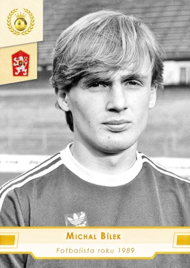 Michal Bilek Czech Republic Fan karty Fotbalista roku 1989 #FR25