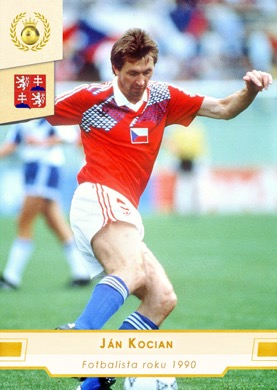 Jan Kocian Czech Republic Fan karty Fotbalista roku 1990 #FR26