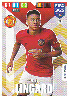 Jesse Lingard Manchester United 2020 FIFA 365 #77