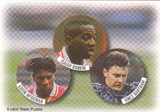 Gavin McGowan Isaiah Rankin Vince Bartram Arsenal 1997/98 Futera Fans' Selection #3