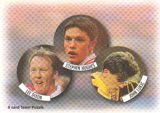 Lee Dixon Stephen Hughes John Lukic Arsenal 1997/98 Futera Fans' Selection #5