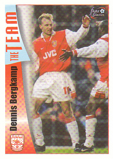 Dennis Bergkamp Arsenal 1997/98 Futera Fans' Selection #12