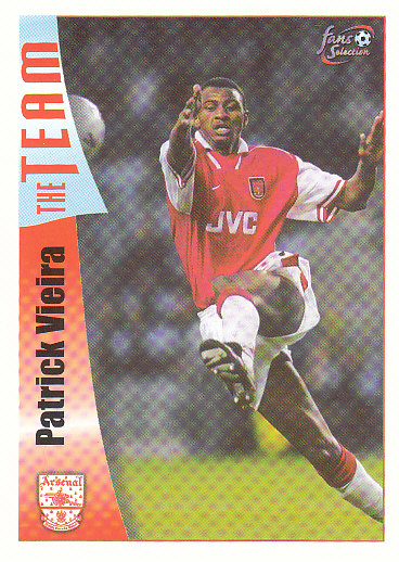 Patrick Vieira Arsenal 1997/98 Futera Fans' Selection #14