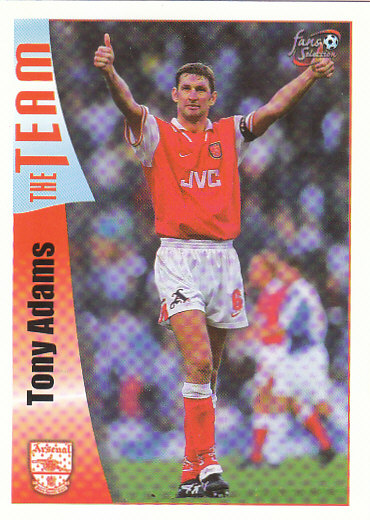 Tony Adams Arsenal 1997/98 Futera Fans' Selection #16