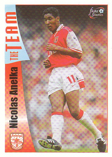 Nicolas Anelka Arsenal 1997/98 Futera Fans' Selection #17