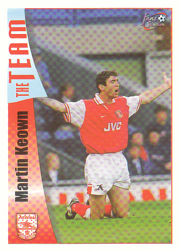 Martin Keown Arsenal 1997/98 Futera Fans' Selection #18