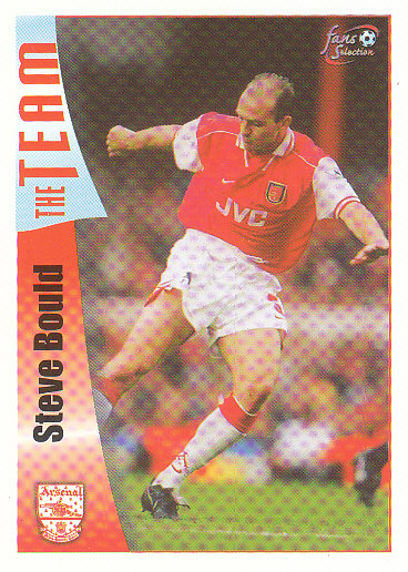 Steve Bould Arsenal 1997/98 Futera Fans' Selection #19