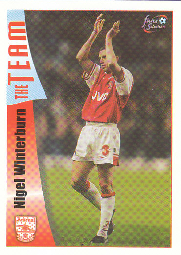 Nigel Winterburn Arsenal 1997/98 Futera Fans' Selection #20
