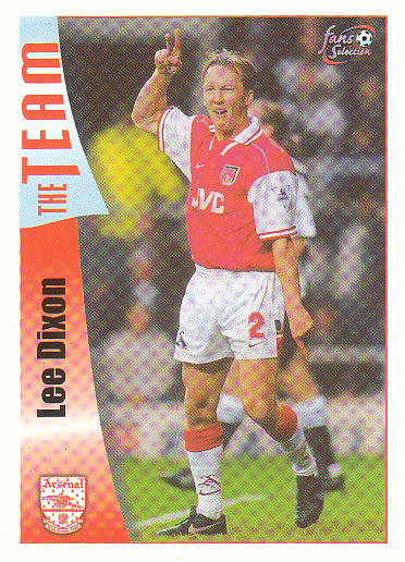 Lee Dixon Arsenal 1997/98 Futera Fans' Selection #22