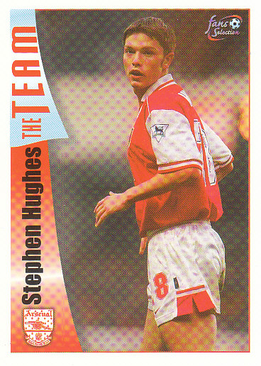 Stephen Hughes Arsenal 1997/98 Futera Fans' Selection #23