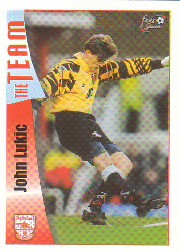 John Lukic Arsenal 1997/98 Futera Fans' Selection #24