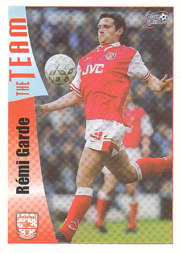 Remi Garde Arsenal 1997/98 Futera Fans' Selection #25