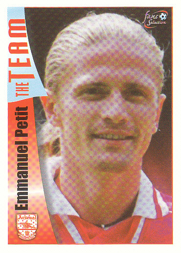 Emmanuel Petit Arsenal 1997/98 Futera Fans' Selection #26