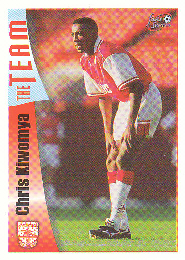Chris Kiwomya Arsenal 1997/98 Futera Fans' Selection #27