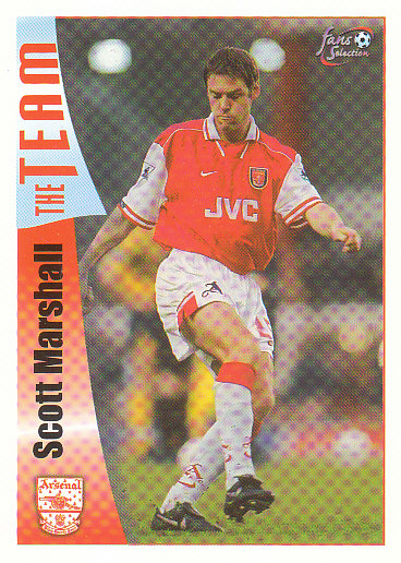 Scott Marshall Arsenal 1997/98 Futera Fans' Selection #29