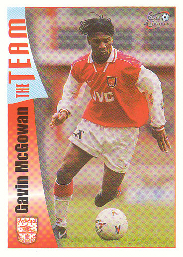 Gavin McGowan Arsenal 1997/98 Futera Fans' Selection #34