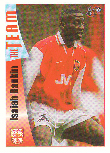 Isaiah Rankin Arsenal 1997/98 Futera Fans' Selection #35