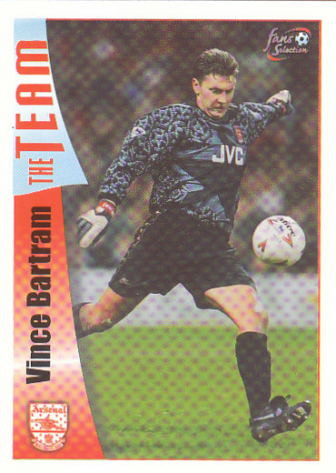 Vince Bartram Arsenal 1997/98 Futera Fans' Selection #36