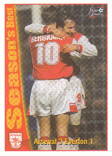 Arsenal 3 / Everton 1 Arsenal 1997/98 Futera Fans' Selection #47