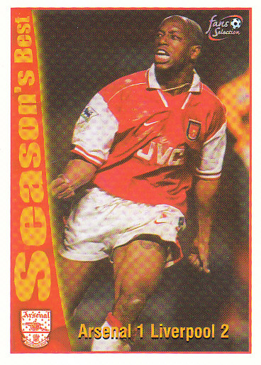 Arsenal 1 / Liverpool 2 Arsenal 1997/98 Futera Fans' Selection #49