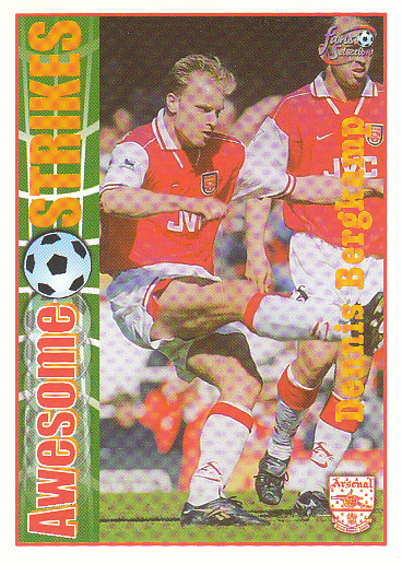 Dennis Bergkamp Arsenal 1997/98 Futera Fans' Selection #55