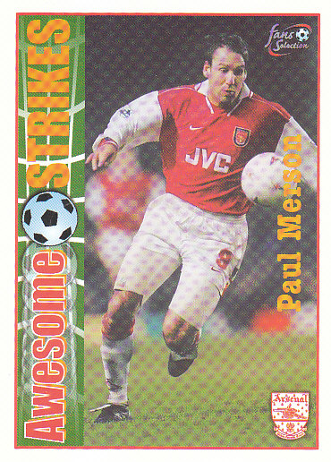 Paul Merson Arsenal 1997/98 Futera Fans' Selection #57