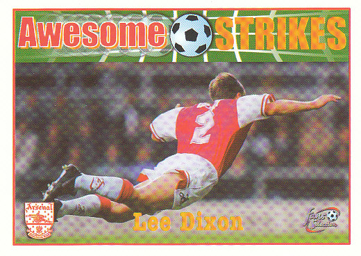 Lee Dixon Arsenal 1997/98 Futera Fans' Selection #58