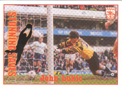 John Lukic Arsenal 1997/98 Futera Fans' Selection #62